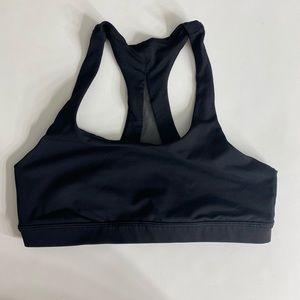 Lululemon black mesh racer back sports bra